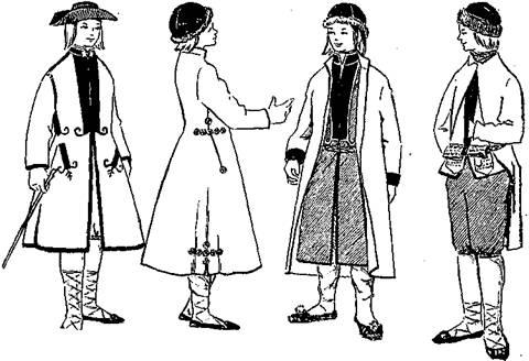 Латышский мужской костюм конца xviii в
